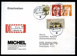 BERLIN PU54 B2/001a Privat-Umschlag MICHEL Gelaufen München-Erding 1974  NGK 20,00 € - Sobres Privados - Usados