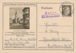 GERA / SELLIN über BÄRWALDE - 1943 - Marcofilie - EMA (Print Machine)