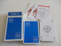 jeu de 52 cartes � jouer  - EDF - ELECTRICITE DE FRANCE