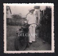 REAL PHOTO BELGIQUE BELGIUM CONGO BELGE MOTORCYCLE MOTO HARLEY DAVIDSON - 1940'S - Cycling