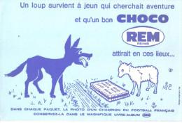 """Buvard Ancien 'Choco Rem"""" Le Loup - G"""
