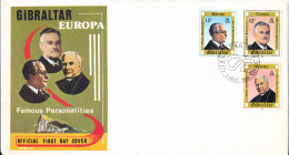 Gibraltar FDC 6-5-1980 EUROPA CEPT Famous Personalities With Cachet - Europa-CEPT