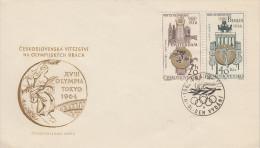 Enveloppe  1er  Jour    TCHECOSLOVAQUIE     JEUX    OLYMPIQUES      PRAGUE     1965 - Olympic Games
