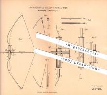 original Patent - Arnold Zivny & Johann B. Petzl in Wien , 1886, Pfeilbogen , Bogen , Bogenschiessen , Sport , Schiessen