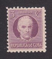 Cub, Scott #310, Mint Hinged, Jose De La Luz Caballero, Issued 1930 - Kuba