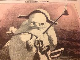 1869 Journal L´ECLIPSE - LE DÉGEL Caricature D´ André GILL - BONHOMME DE NEIGE -  UN MOT A L'OREILLE  Par LADREYT - 1850 - 1899