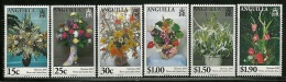 "Anguilla     ""Christmas 2000-Flowers""      Set    SC# 1034-39    MNH** - Anguilla (1968-...)"
