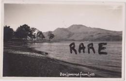 Postcard ,carte Photo Ben Lomond  Fromm Luss,munro,montagne,mount Ain écossaise De 94 Mètres,highlands,loch Lomond,only - Ecosse