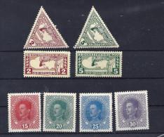 Mi. Nr. 217, 218, 221 - 224 postfrisch