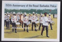 Barbade 1985 Bloc Neuf N°21 De 1 Timbre 150è Anniversaire De La Musique Royale De La Police - Barbades (1966-...)