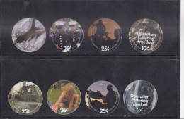 IRAQ ACRILYIC COINS : 2003-2008 USED IN IRAQ BY THE COALATION FORCES IN GREEN ZONE - RARE - Irak