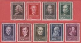1937 ** (sans Charn., MNH, Postfrish)   Yv  506/14    Mi  649/57    ANK 649/57 - 1918-1945 1. Republik