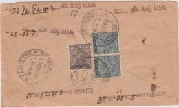 -- BIRMANIE -  LETTRE DE RANGOON POUR CALCUTTA 1938 -- - Myanmar (Birmanie 1948-...)