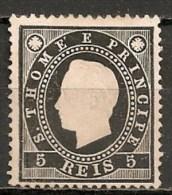 Timbres - Portugal - St Thomas Et Prince - 1887 - 5 Reis - - St. Thomas & Prince
