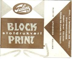 Block Print Talens - 6 Tubes De Couleur Pour L'impression Sur Tissus - Stofdrukwerf - Unclassified