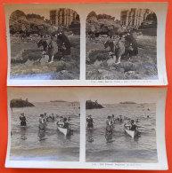 Biarritz  1900-1904 Lot  12 Vues Stéréo Différentes éditeur Légèrement Rogné Bord Gauche - Stereoscopic