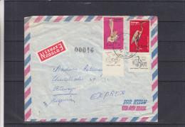 Oiseaux - échassiers - Israël - Lettre Exprès De 1968 ° - Oblitération Jerusalem - Expédié Vers Antwerpen - Israël