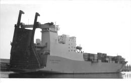 """¤¤  -   Carte-Photo Du Bateau De Commerce  -  Le Cargo """" SAINT-ROMAIN """"  -  Porte-Conteneurs   -   ¤¤ - Commerce"""