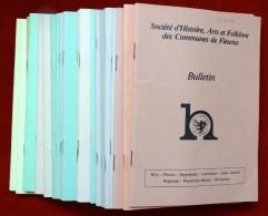 Soci�t� d'histoire-Bulletin-28 num�ros- Fleurus-Brye-Heppignies-Lambusart-St-Amand-Wagnel�e-Wanferc�e-Baulet-Wangenies