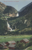 Photochromie AK Krimmler Wasserfälle Vom Burgeck Krimml Land Salzburg Pinzgau Bei Wald Bramberg Gerlos Neukirchen - Krimml