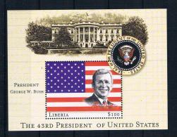 Liberia 2000 President George W. Busch Block ** - Liberia