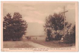 Marne 51 - COURTISOLS Croix Du Jubilé 1934 Au BRALIN Haut Lieu De Reunion Populaire Feux De Joie Jadis Paysan Laboureur - Courtisols