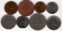 Emirats Arabes Unis : Lot De 8 Pièces Différentes 1973-2013 - Emirats Arabes Unis