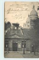 PARIS - Funiculaire Montant à La Basilique Du Sacré-coeur à Montmartre. - Distretto: 18