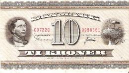 BILLETE DE DINAMARCA DE 10 KRONER DEL AÑO 1936 DIFERENTES FIRMAS (BANK NOTE) MOLINO-MOULIN-MILL - Dinamarca