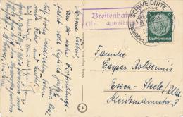 BREITENHEIN Kr. SCHWEIDNITZ  -  1936  , Landpoststempel - Allemagne