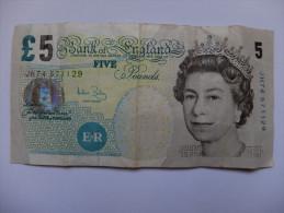 BILLET GRANDE BRETAGNE - P. ELISABETH II - 2002 - 5 POUNDS - ELISABETH FRY - ECOLE - 1952-… : Elizabeth II