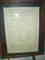1879. Tarifa De Precios De La Compañia Eastern Telegraf Limited - Publicidad