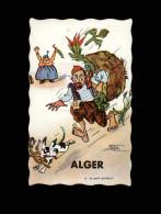 ALGERIE - ALGER - Carte à Système - Carte Dépliant - Dessin De NERI - Mechanical