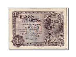 [#306769] Espagne, 1 Peseta Type Dame D'Elche - [ 3] 1936-1975 : Régence De Franco