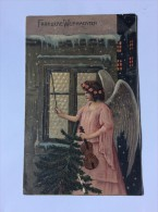 AK    ANGEL  ENGEL    WEIHNACHTEN   CHRISTMAS       EMBOSSED - Anges