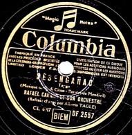 78 Trs - Disque Pour Phonographe - 25 Cm - état TB - RAFAEL CANARO - DESENGANAO - DESENCANTO - 78 Rpm - Schellackplatten