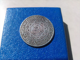 5 Francs Maroc Argent Empire Cherifien 1352 - Marruecos