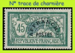 PRÉOBLITÉRÉ N°44 SUR N° 143 TYPE MERSON 1907 - N* TRACE DE CHARNIÈRE - - 1893-1947
