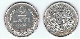 LETONIA 2 LATI 1926 PLATA SILVER - Lituania
