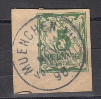 Bavière  Fragment Entier 5p Vert 1898 CAD - Bavière