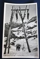 CPA Autriche Riezlern Tir Fesse Remontée Mécanique Ski Skjaufzug Kleinwalsertal Mit Blick - Kleinwalsertal