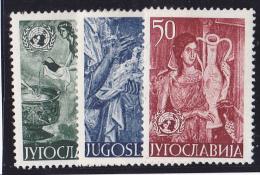 Yougoslavie N°627/629 - Neufs * - TB - Neufs