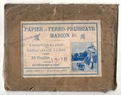 Papier Ferro Prussiate  1900/1910 (15 Feuilles Sans Notice ) RARE - Supplies And Equipment