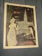 RARISSIME ,Grand menu de Paul Delvaux,d�dicac� � Albert et Georges Niels,RARE,35 Cm. sur 26 Cm.