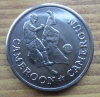 GETTONE COPPA DEL MONDO DI CALCIO 1990 SVOLTOSI IN ITALIA - CAMEROUN IN FIOR DI CONIO - - Gettoni E Medaglie