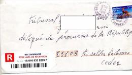 Lettre Recommandee Saint Jean De Monts - Postmark Collection (Covers)