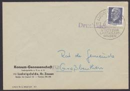 """DDR """"Ludwigsfelde Stadt Der Lastkraftwagen"""" SSt. Mit Lkw LO55 Auf Drucksache Mit 5 Pf Walter Ulbricht, Abs. KONSUM - DDR"""