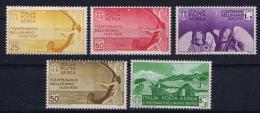 Italia: 1935 Sa Nr  A90 - A94   Mi Nr538 - 542 MNH/** - 1900-44 Vittorio Emanuele III