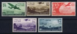 Italia: 1936 Sa Nr A95 - A99   Mi Nr 555 - 559 MNH/** - 1900-44 Vittorio Emanuele III