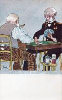 CPA - BELLE ANIMATION - Jeux De Cartes - Joueurs De PIQUET, BKWI 870 8 - CL.16.22 - Cartes à Jouer